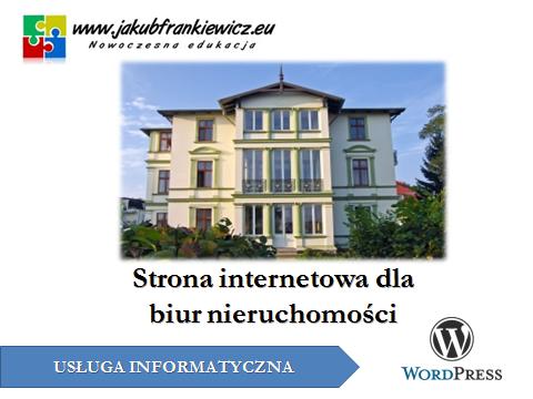www nieruchomosci - Strona internetowa dla biur nieruchomości