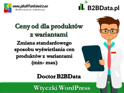 """ceny produktow z wariantami b2bdata - Doctor B2BData - """"Ceny od"""" dla produktów z wariantami"""