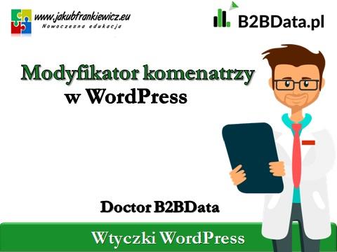 modyfikator komentarzy - Doctor B2BData - Modyfikator komentarzy