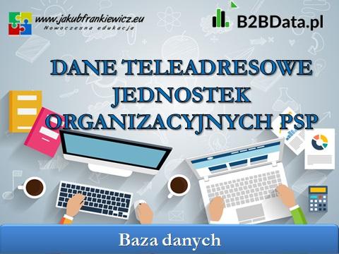 jednostki psp - Dane teleadresowe jednostek organizacyjnych PSP