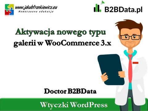 nowa galeria woocommerce 1 - Doctor B2BData - Aktywacja nowego typu galerii w WooCommerce 3.0