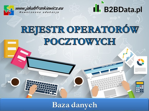 operator pocztowy - Rejestr operatorów pocztowych