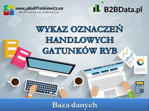 wykaz ryb - B2BData.pl