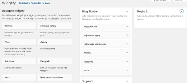 przedwlaczeniem 600x269 - Doctor B2BData - Wyłączenie domyślnych widgetów w WordPress