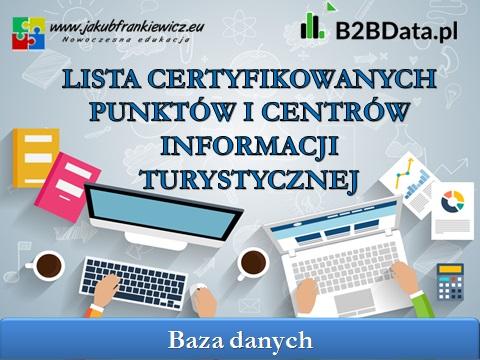 certyfikowane it - Lista certyfikowanych punktów i centrów informacji turystycznej