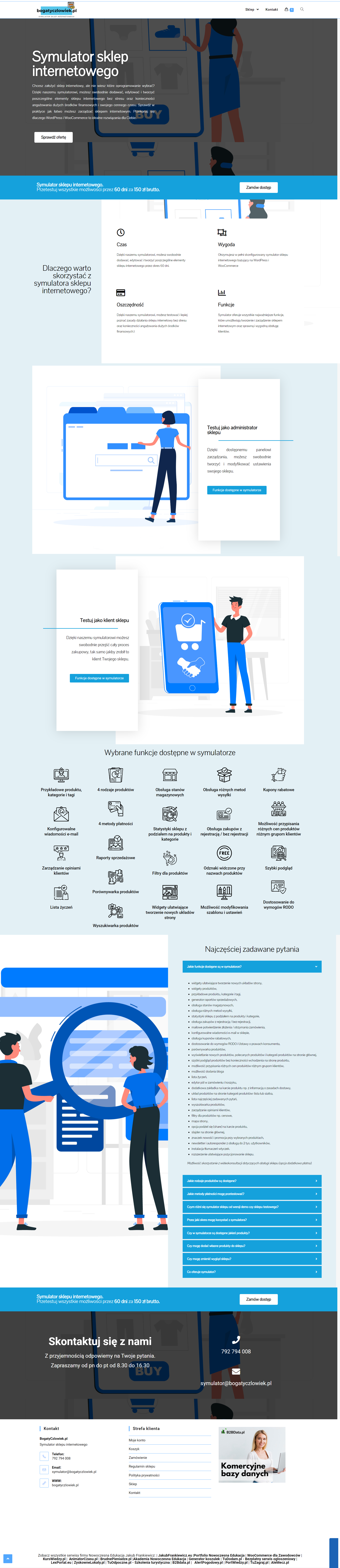 BogatyCzlowiek pl Symulator sklepu internetowego - Symulator sklepu internetowego