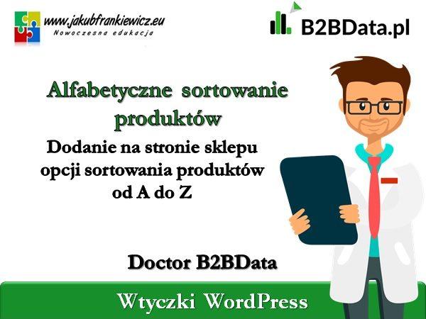 b2bdata alfabet 600x450 - Doctor B2BData - Włączenie sortowania alfabetycznego