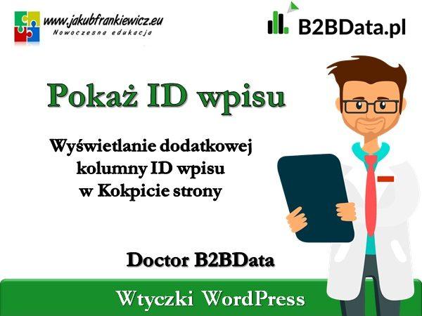 b2bdata pokaz id 600x450 - Doctor B2BData - Pokaż ID wpisu
