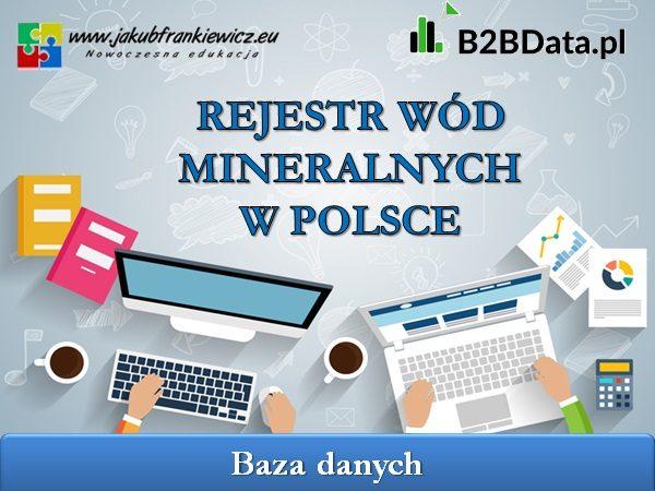 mineralne wody 600x450 - Rejestr wód mineralnych w Polsce