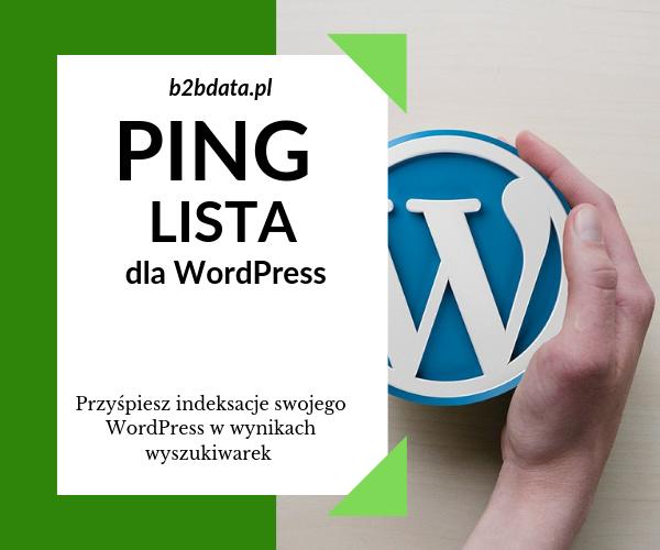 pinglista - Ping lista dla WordPress