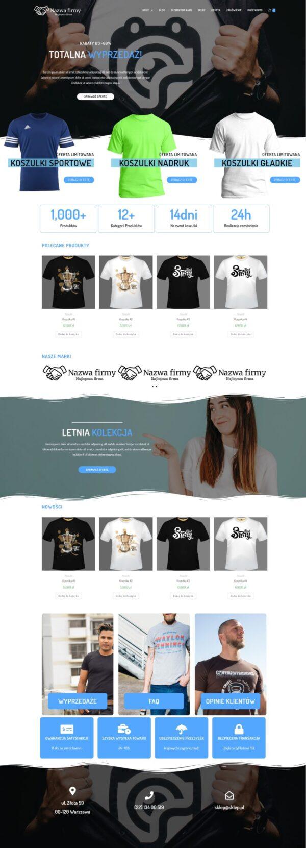 sklep koszulki scaled 600x1661 - Gotowy sklep internetowy w 48h